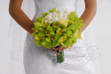 Шикарный свадебный букет для зеленой